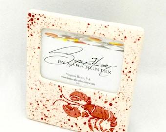 Picture Frame. Lobster Picture Frame. Lobster. Sea Life. Crawfish. 4x6. Handmade by Sara Hunter Designs