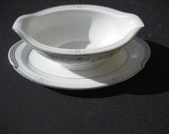 Nortike China Norwood 6011 Gravy/ under plate with handles