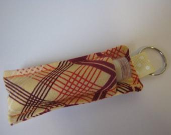 chapstick pouch/chapstick holder/keyring holder