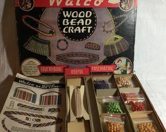 Walco Wood Bead Craft Set