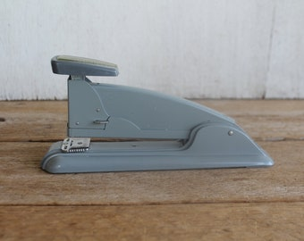 Vintage Swingline Mid Century Industrial Stapler Slate Gray