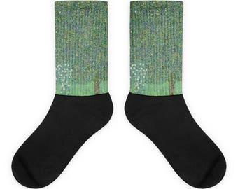 Gustav Klimt, Rosebushes under the Trees - Socks