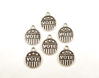6 Antik Silber Abstimmung Charms - 21-62-8