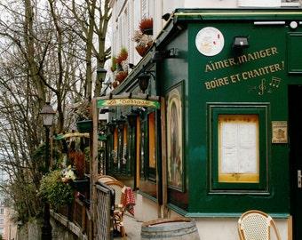 Paris Photography - La Bonne Franquette Print Paris Cafe Photograph French Bistro Wall Art Parisian Kitchen Decor Fall Photo Autumn