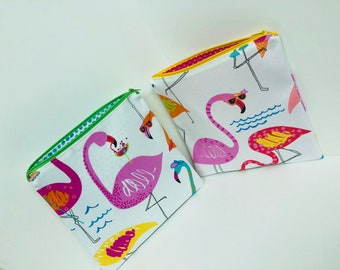 Flamingo Beach Party Pouches
