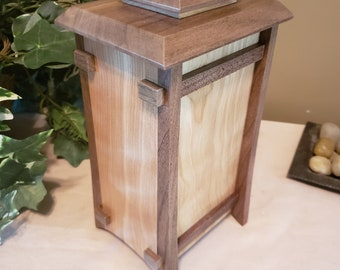 Cremation Urn - Small Tower with Candle - Urn for Human Cremation Ashes for Funeral, Memorial or Celebration of Life