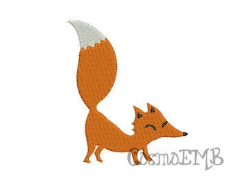 5 Size Fox Embroidery design Machine Embroidery - Digital INSTANT DOWNLOAD