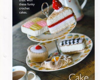 Crochet Cakes pdf Pattern in DK Yarn, INSTANT DOWNLOAD