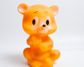 Vintage Rubber Toy with  whistle, the Bear (C0088)