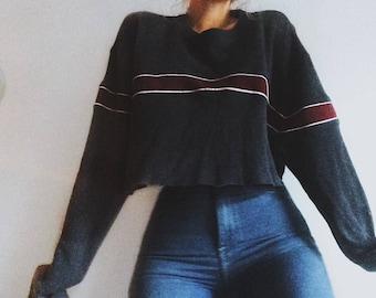 OCI cropped oversized sweater