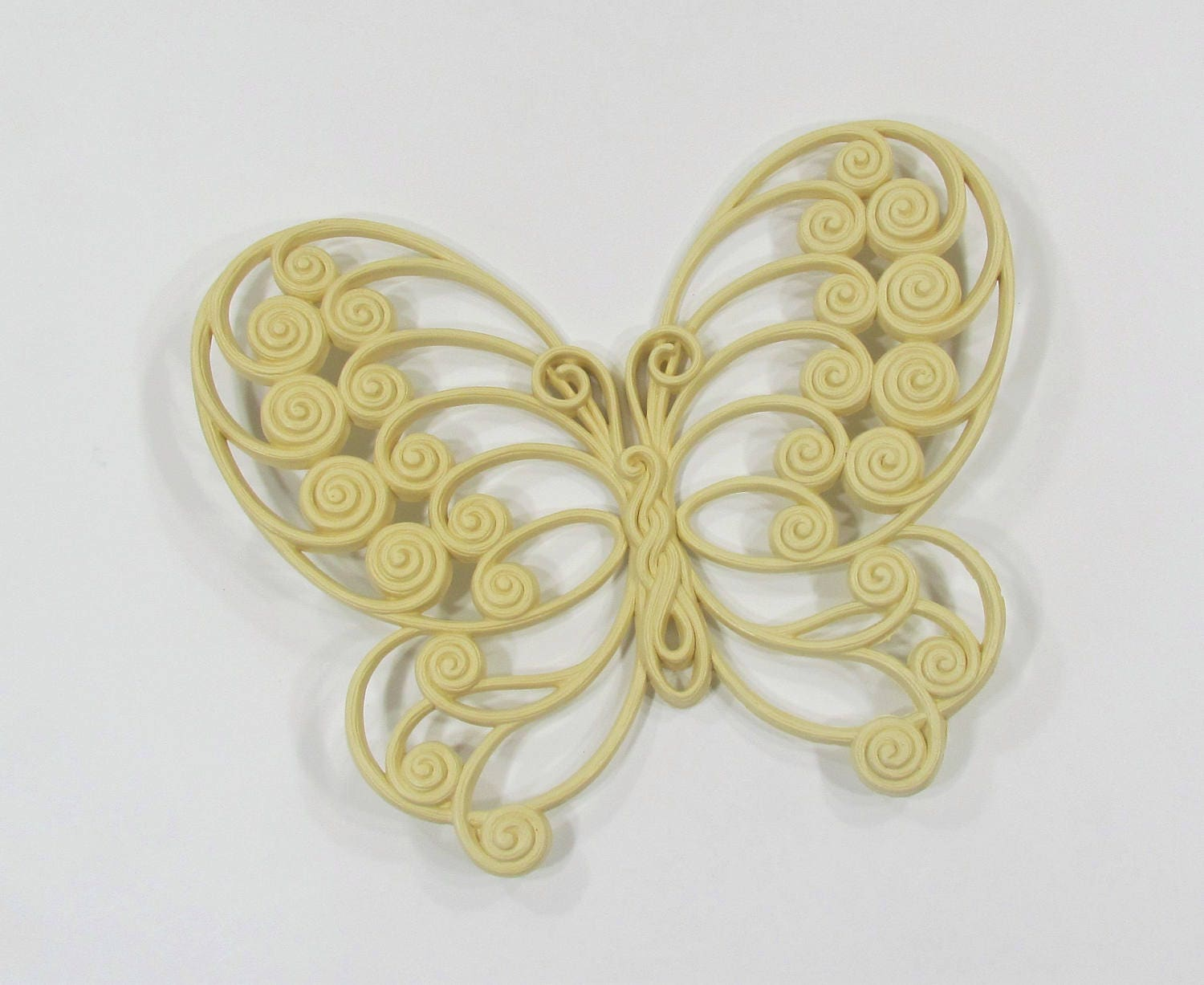 Yellow Butterfly Burwood Products Hard Plastic Butterfly Wall