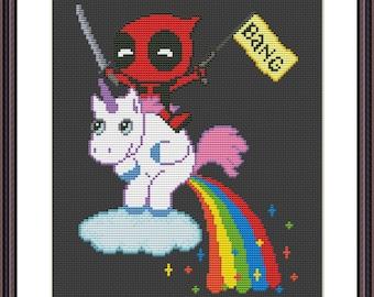 Deadpool Unicorn Etsy