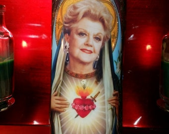 Angela Lansbury w/ Bling - Jessica Fletcher  - Celebrity Saint Prayer Candles - Deluxe with Bling!