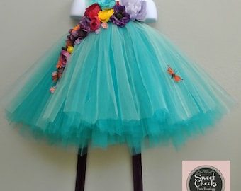 Woodland fairy dress, Fairy costume, Fairy dress, flower girl dress, flower girl tutu, tutu dress, turquoise dress, toddler dress