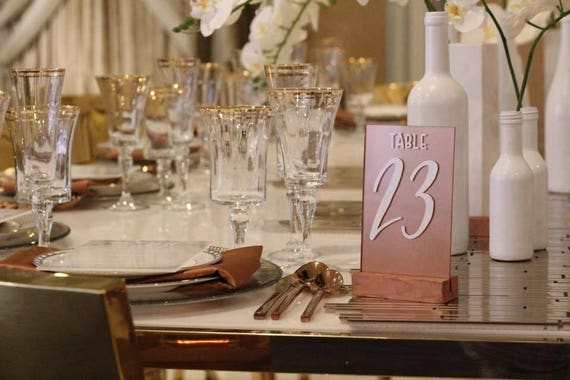 Custom Acrylic Table Numbers Wedding Or Event - Custom restaurant table numbers