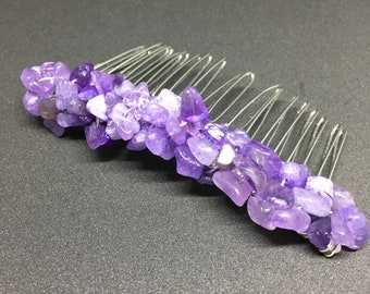 Amethyst Hair Combs