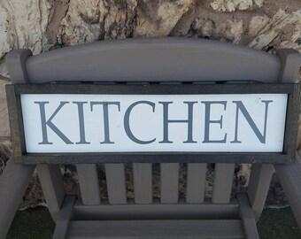 Kitchen Sign, Farmhouse Kitchen Sign, Fixer Upper Decor, Rustic Framed Sign, Kitchen Decor