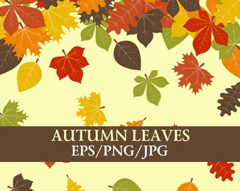 30 Autumn Leaves Digital Clip Art, Fall Clipart, Autumn Clip Art, Commercial and Personal use,