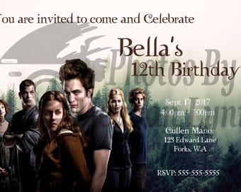 Twilight Saga Birthday Invitations *DIGITAL*