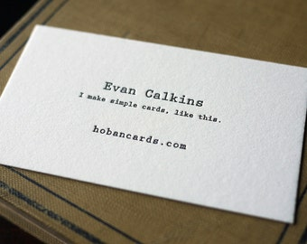 The Typewriter – Custom Letterpress Printed Calling Cards 100ct
