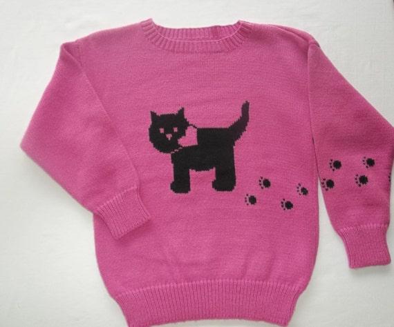 Brand-new Kitty Cat Sweater Custom Design Handmade MR44