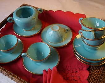 Gien French St Clément, coffee, Style Art deco french Art of living, Table Art