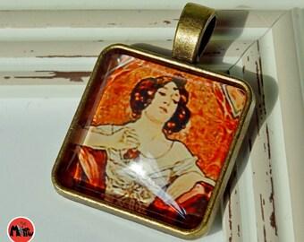 Art Nouveau necklace pendants