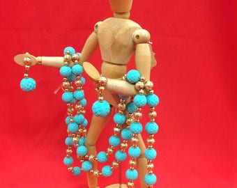 Napier vintage rope necklace and earrings