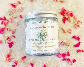 Bamboo & Lemon Verbena Whipped Avocado Butter by Santa Barbara Aromatics | Gift for Her | Gift for Mom | Bridesmaid Gift