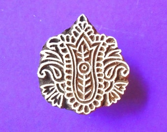 Hand Carved Traditional Wood Pottery Stamp Indian Print Block