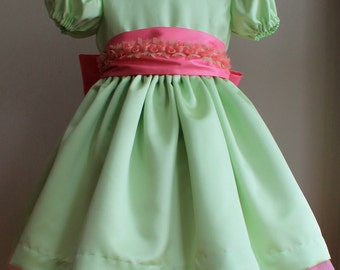 Finley Girls Special Occasion Dress, Flower Girl Dresses, Peter Pan Collared Dress, Flower Sash, Birthday Party, Pageant Wear, Custom Made