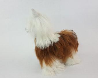 Handmade Authentic Peruvian Llama Doll with Alpaca Suri Fur 8 inch