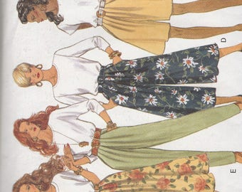 Butterick 6075 Vintage Pattern Womens Skirts and Pants in 6 Variations Size 18,20,22 UNCUT
