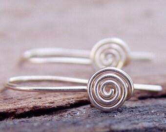 Spiral Classic Earrings, Gold Dainty Earrings, Gold Delicate Earrings, Spiral Earrings