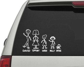 Vinyl Decal- Stick People (Stick Family)