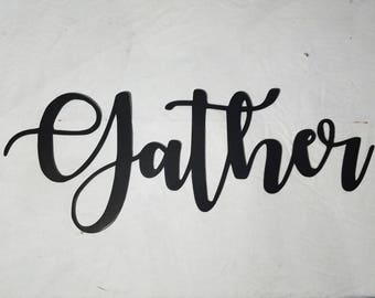 Steel Gather Sign