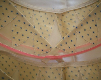 1920s antique fine dotted swiss collar on cotton organdy