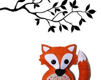 A stuffed Fox sewing kit!