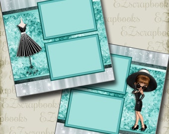 Tiffany's - 2 Premade Scrapbook Pages - EZ Layout 2923
