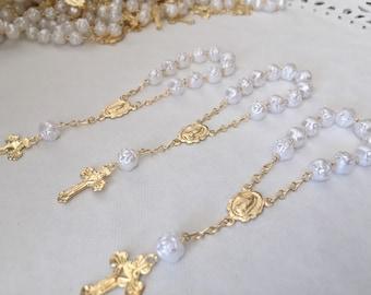 50 PC baptism favors white color Gold plated / christening favors/ recuerdos de bautismo/ baptism favor/ communion favor