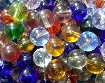 Assorted Crystal Round Beads
