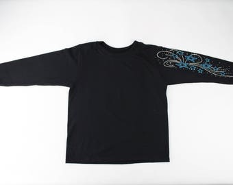 Blue shimmery stars long sleeve