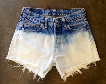 The Ombre Dipped Gradated Levi Shorts