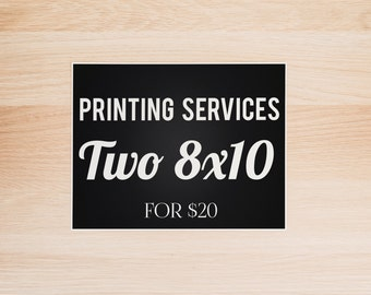 Professional Printing Service for 8x10