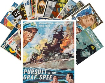 Postcards Set 24pcs * War History Drama Action Ships Planes Marine WWII Vintage Movie Poster CC1073