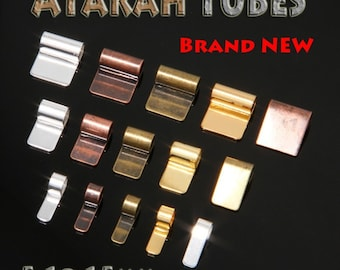 50 Pack of 10mm Atarah Tube Bails/MIX AND MATCH/Sterling Silver, Vintage Copper, Vintage Bronze,18k Gold Plated/Really Nice