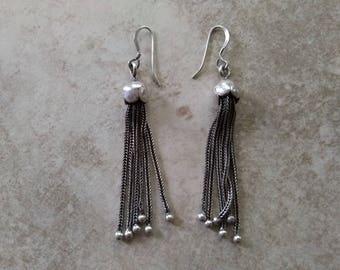 Sterling Silver Dangle Swing Earrings