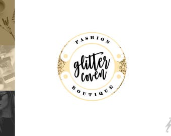 Premade Black Gold Logo | Beauty Logo Design | Beauty Blog Logo | Gold Blog Header | Gold Black Header Design | Fashion Glitter Logo Design