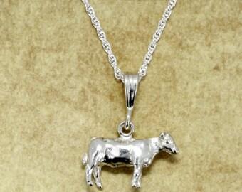 Show Heifer Necklace, 925 Sterling Silver Show Heifer Necklace