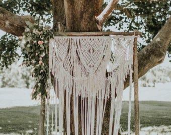 Wedding Macrame Backdrop Arch Bohemian Beautiful Boho Wedding  Arch Photobooth Wedding Decor